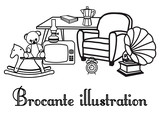 illustration brocante & vide grenier - 2