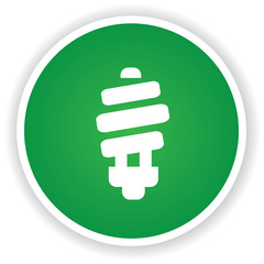 Light bulb on green button,vector