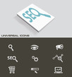 Search engine optimization universal icons