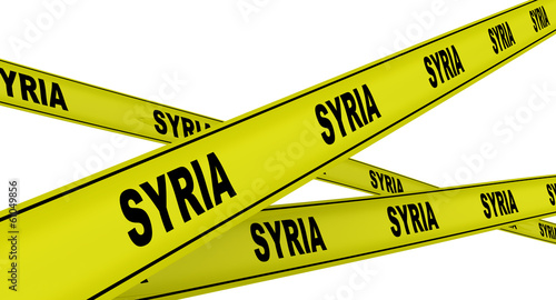 SYRIA. Yellow ribbons with the inscription
