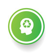 Recycle brain symbol,vector