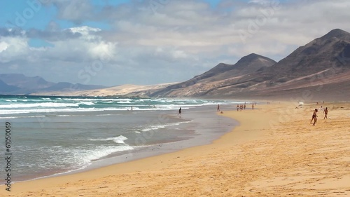 People on the beach - Cofete, Fuerteventura
