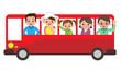 観光バスで家族旅行