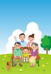 青空と幸せ家族