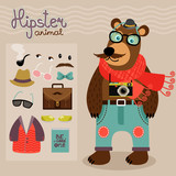 Hipster pack for animal teddy bear