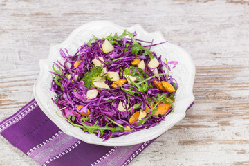 Salad. Red cabbage salad