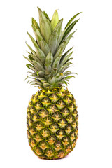 Single pineapple isolated on white