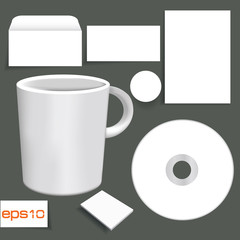 Blank object for text or slogan, White object,vector