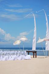 Altare nuziale sulla spiaggia