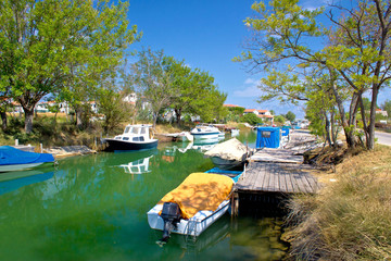 Green river boats in Croatia