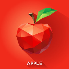 Vector illustration of an apple in a geometric style