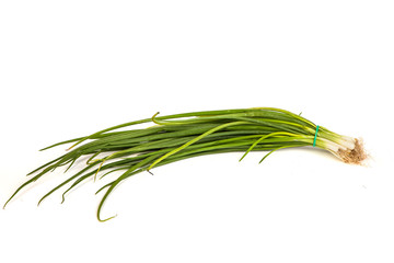 Fresh scallions isolated on white