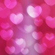 texture, abstract background is the heart in love bokeh light