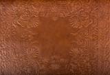 Leather floral pattern background close up - Fine Art prints
