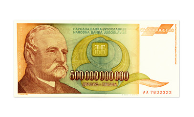 Inflation money in Yugoslavia