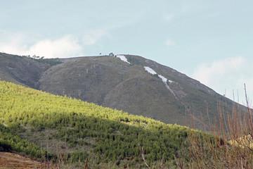 Montaña con nieve, Sauceda, Hurdes, España