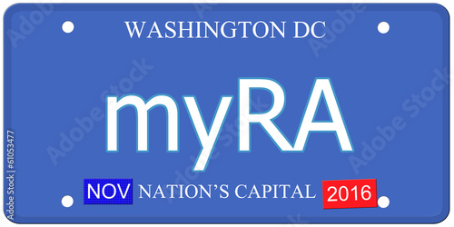 myRA Washington DC License Plate