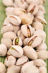Pistachio nuts close up