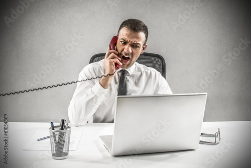 anger on the phone