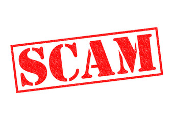 SCAM Rubber Stamp