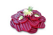 Beetroot salad isolated