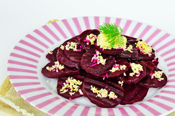Beetroot salad with horseradish