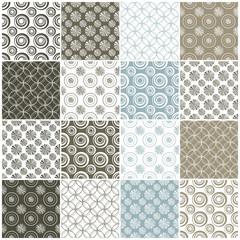 geometric seamless patterns with circles