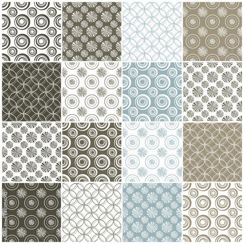 geometric seamless patterns with circles