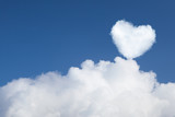 heart shaped cloud in the sky poster