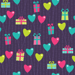 Vilentine gifts seamless pattern