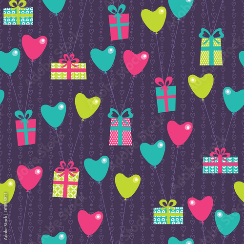 Vilentine gifts seamless pattern