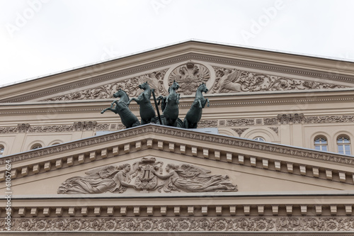 Moscow, Russia . Architecture of the building of the Bolshoi The
