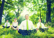Business People Meditating in Nature