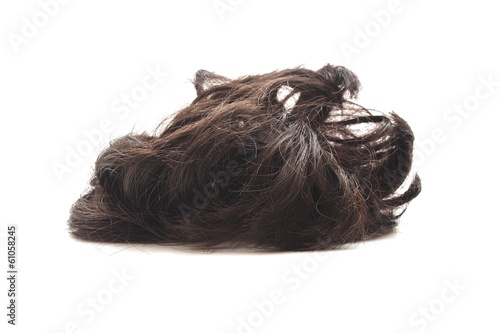 hairpiece on white background