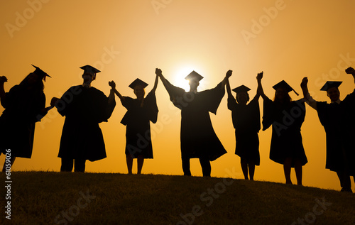 People Graduation Silhouette