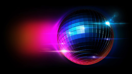 disco ball with lighting scene