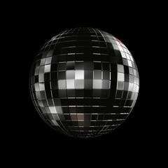 disco ball on black background