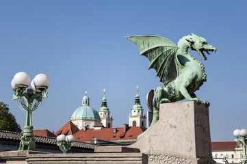 Dragon Bridge, Ljubljana.