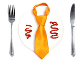 Concept on business lunch poster