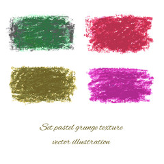 Set pastel grunge textures. Vector illustration/ EPS 10