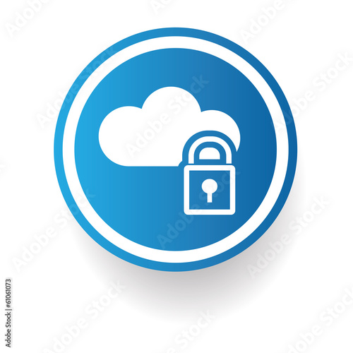 Cloud computing sign,vector