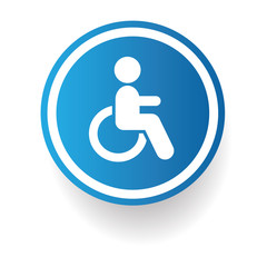 Disabled sign,vector