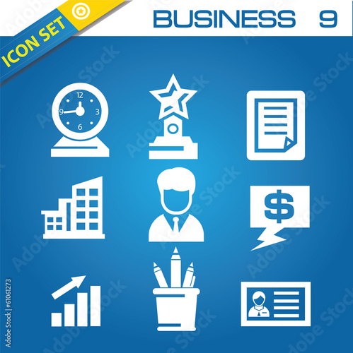Business and office icons,vector
