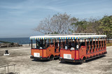 Travia Buses in Corregidor Island, Philippines.