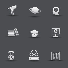Science & education icons,vector
