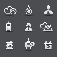 Energy and power icons,vector