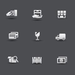 Shipping icons,vector