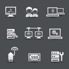 Server computer and connection system icons
