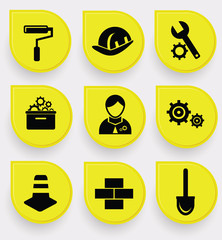 Construction symbol icons,vector