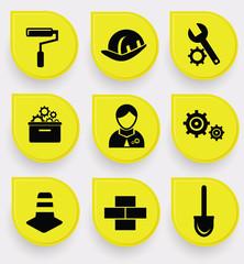 Construction symbol icons,vector